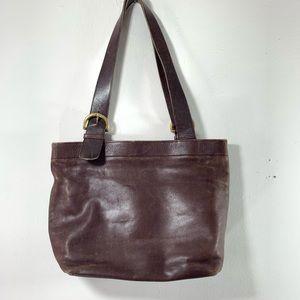 Vintage Coach leather Saddle Shoulder Bag medium
